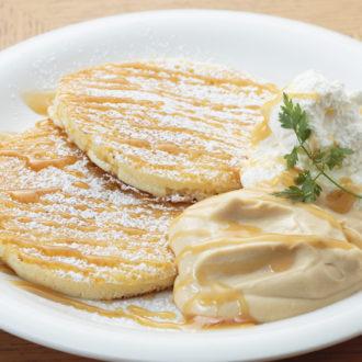 キャラメルカスタードのパンケーキ